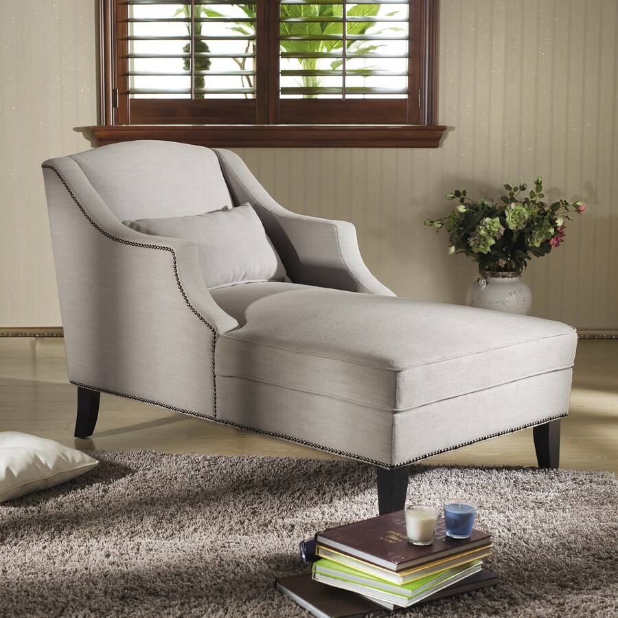 Baxton Studio Asteria Casual Beige Linen Chaise Lounges
