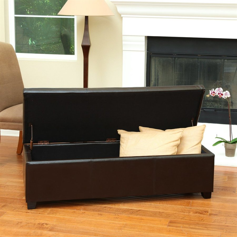 Best Selling Home Decor Glouster Faux Leather Rectangular Storage Ottoman