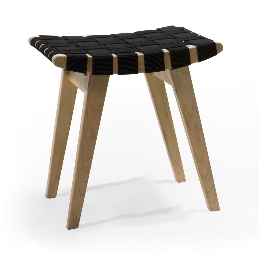 AEON Furniture Modern Classics Midcentury Black Ottoman