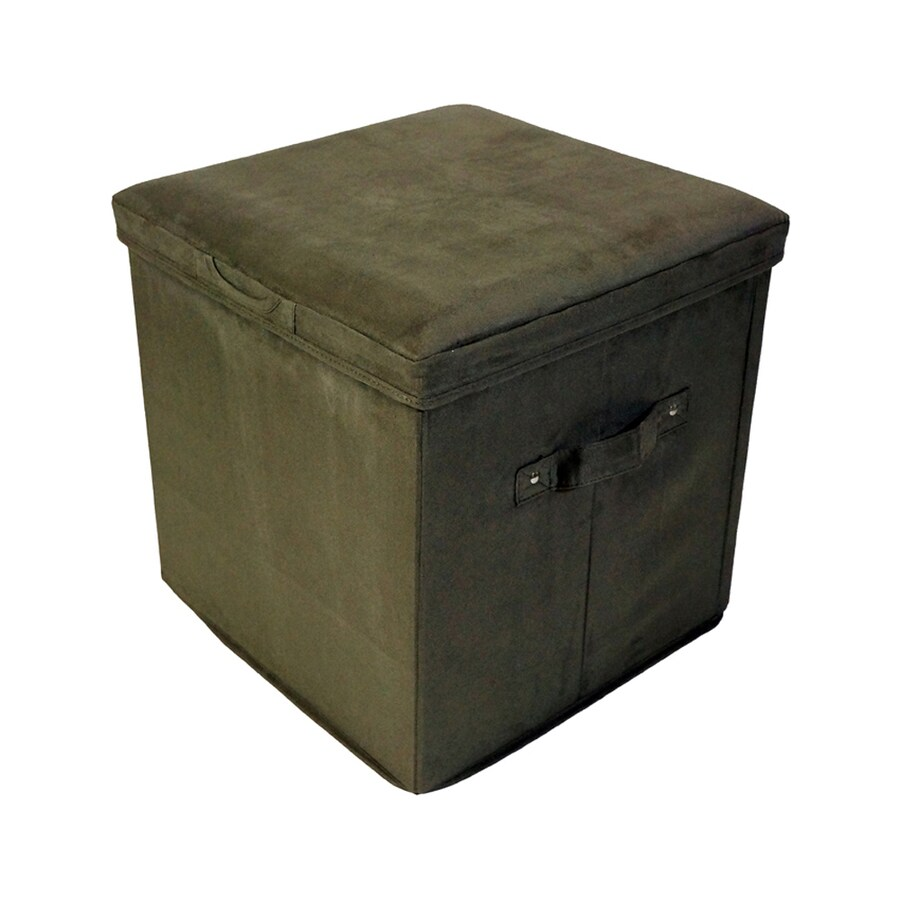 shop casual home casual sage microsuede storage ottoman at