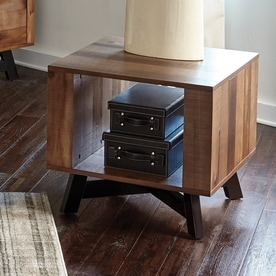 scott living naomi ash asian hardwood square end table