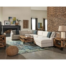 Scott Living Wylder Casual Ivory SectionalShop Couches  Sofas   Loveseats at Lowes com. Living Room Furniture Sofas. Home Design Ideas