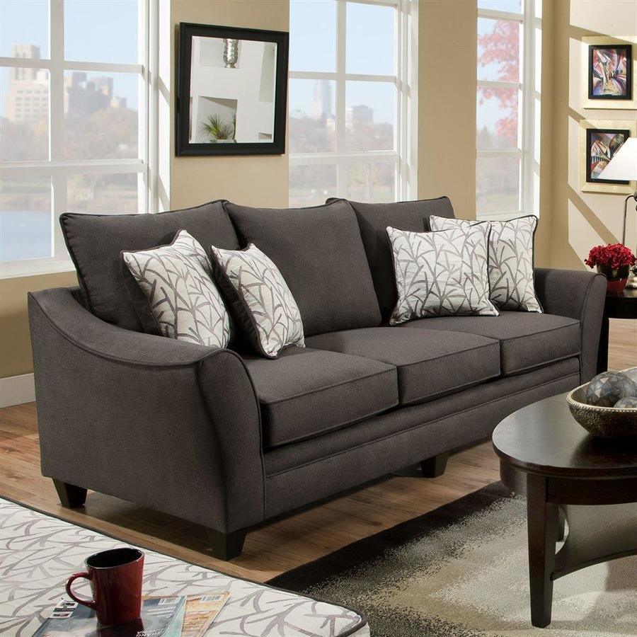 Chelsea Home Cupertino Casual Flannel Seal Sofa