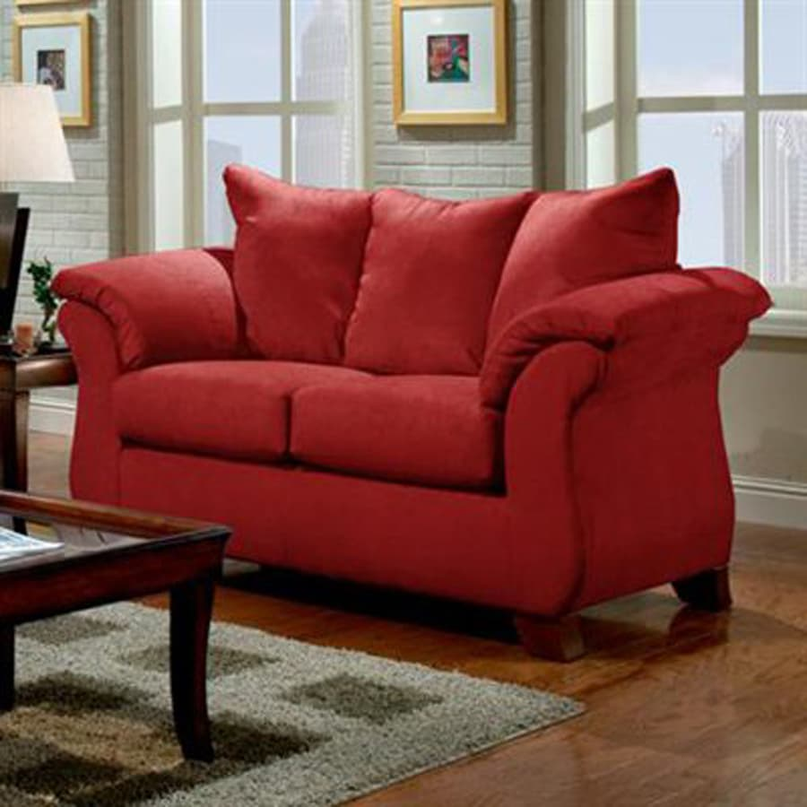 Chelsea Home Armstrong Casual Sensations Red Brick Loveseat