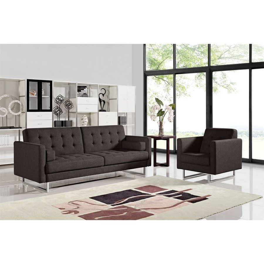 Shop DIAMOND SOFA 2-Piece Opus Chocolate Living Room Set at Lowes.com