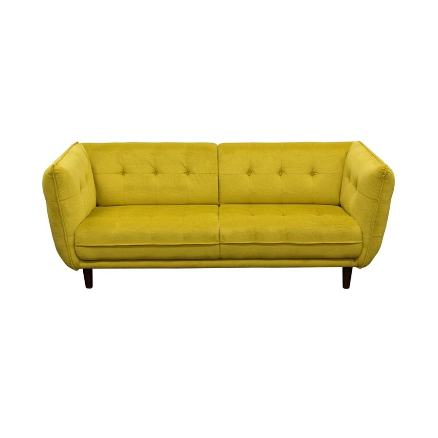 Diamond sofa venice midcentury yellow sofa