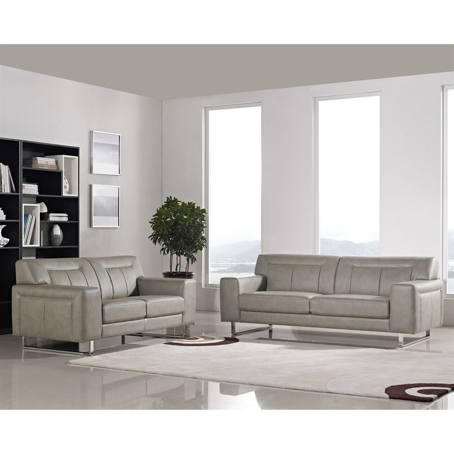 Shop DIAMOND SOFA 2-Piece Vera Sandstone Living Room Set at Lowes.com