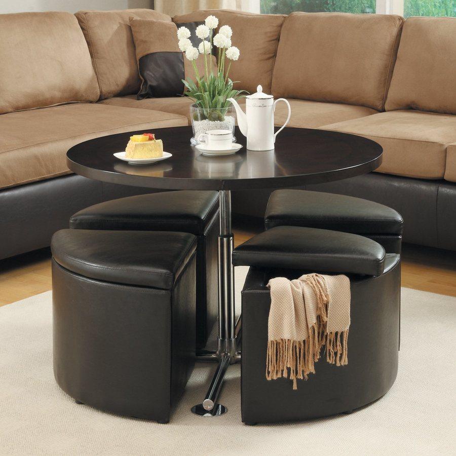 Homelegance 5-Piece Rowley Dark Cherry Living Room Set