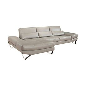 Ju0026M Furniture 833 Stone Genuine Leather Sectional