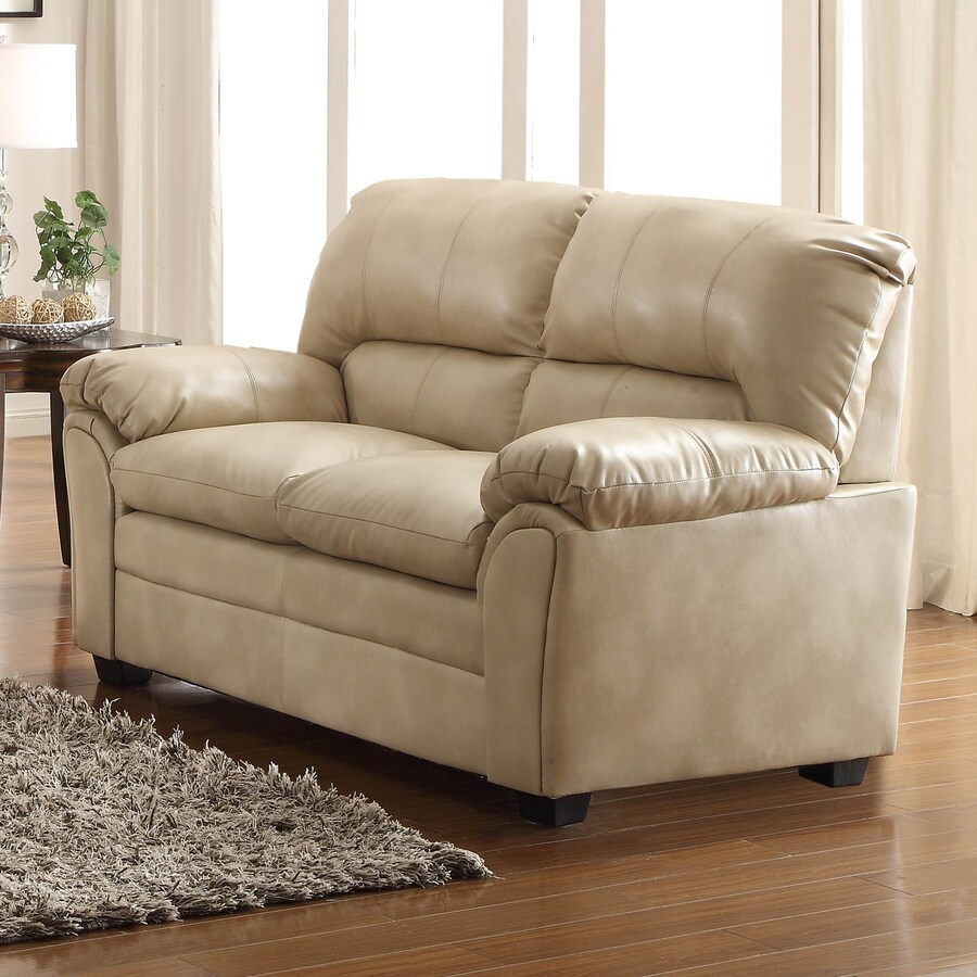 Homelegance Talon Casual Taupe Faux Leather Loveseat At