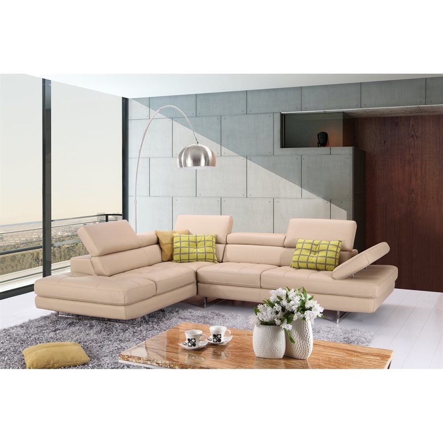 J&M Furniture Modern Peanut Genuine Leather Sectional