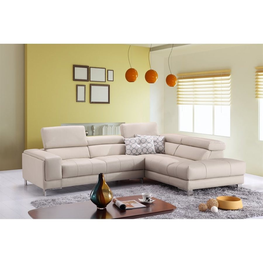 J&M Furniture Gray Genuine Leather Sectional