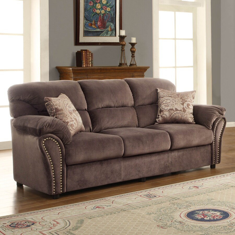 Homelegance Valentina Casual Chocolate Sofa
