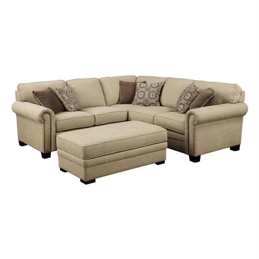 Emerald Home Furnishings Lacie Casual Beige Sectional