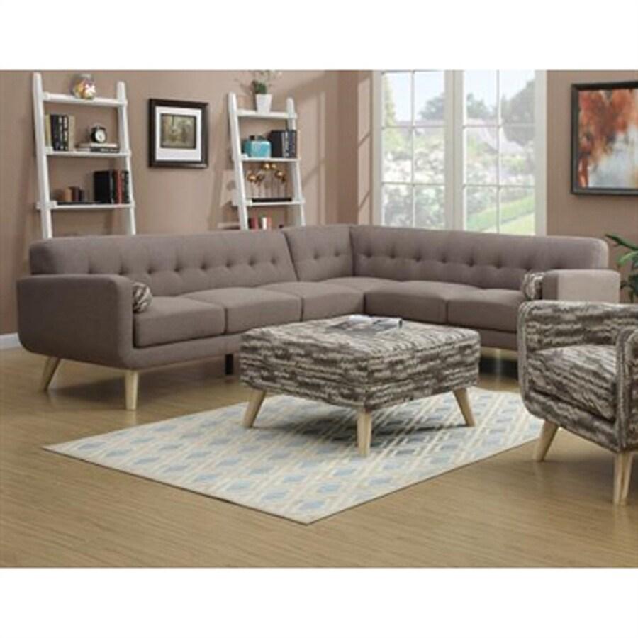 Emerald Home Furnishings 3-Piece Wiley Mushroom Living Room Set