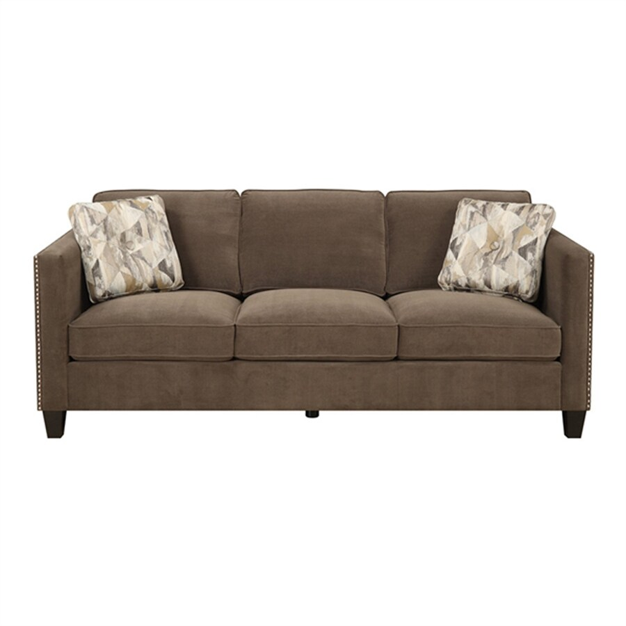 Emerald Home Furnishings Focus Casual Griffin Chocolate Sofa