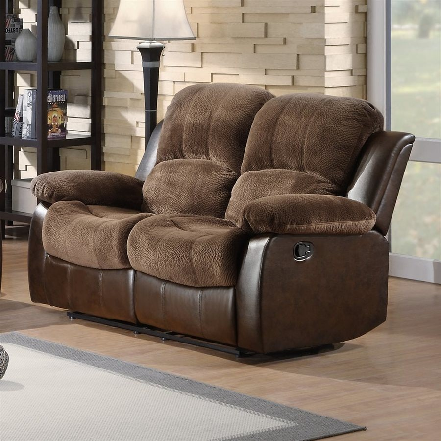 Homelegance Cranley Casual Chocolate Reclining Loveseat