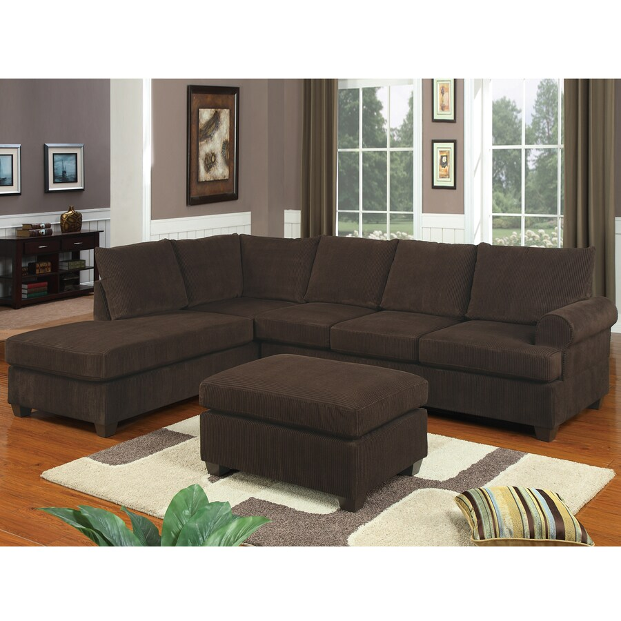 Poundex Casual Chocolate Sectional