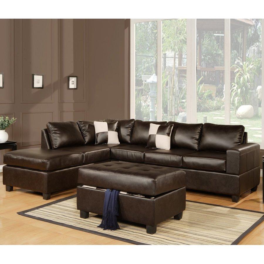 Poundex 3-Piece Bobkona Espresso Living Room Set
