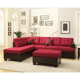 living room sets. Poundex 3 Piece Bobkona Winden Carmine Espresso Living Room Set Shop Sets at Lowes com