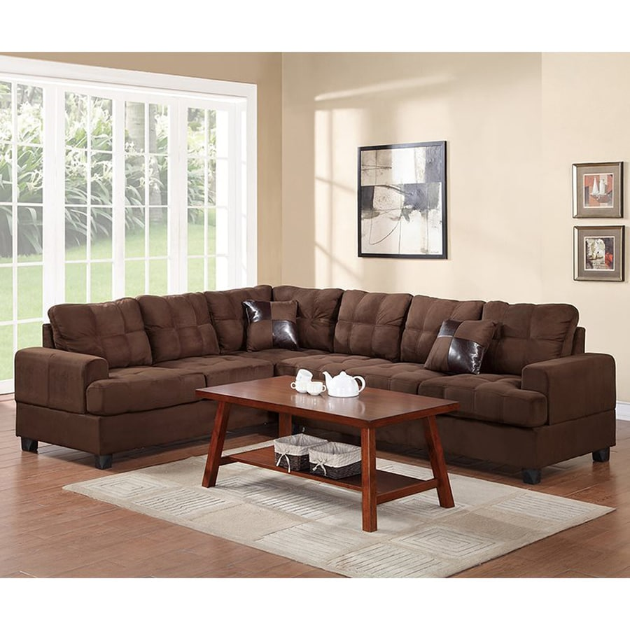 Poundex Leo Casual Chocolate Sectional