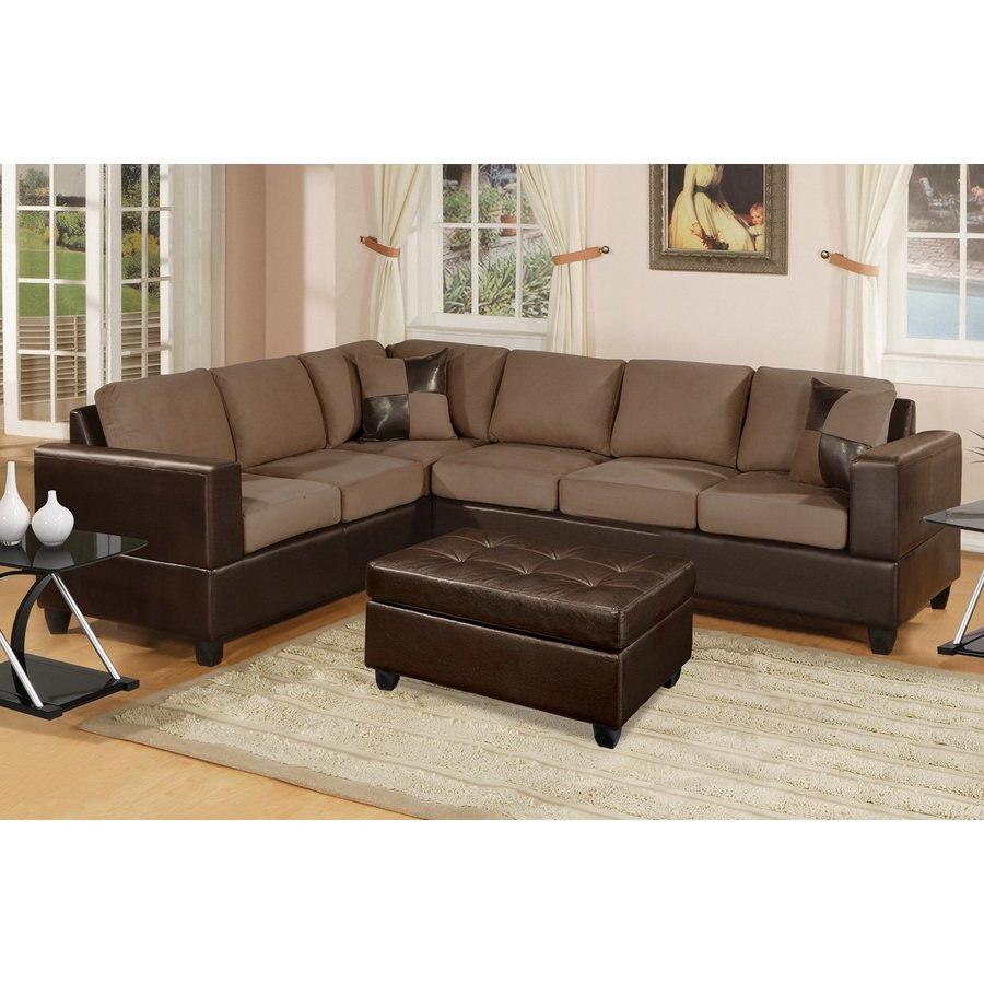 Poundex Trenton Casual Saddle Sectional