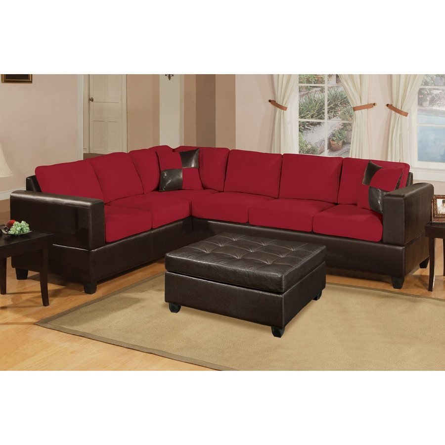 Poundex Trenton Casual Red Sectional