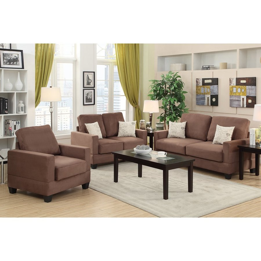 Poundex 3-Piece Bobkona Madison Peat Living Room Set