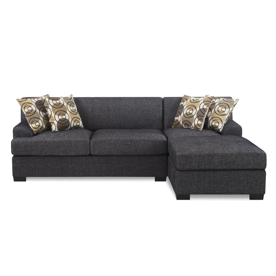 Poundex Montereal Casual Ash Black Linen Sectional