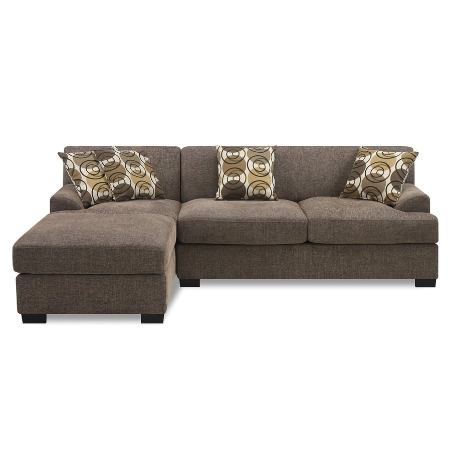 Poundex Montereal Casual Slate Linen Sectional