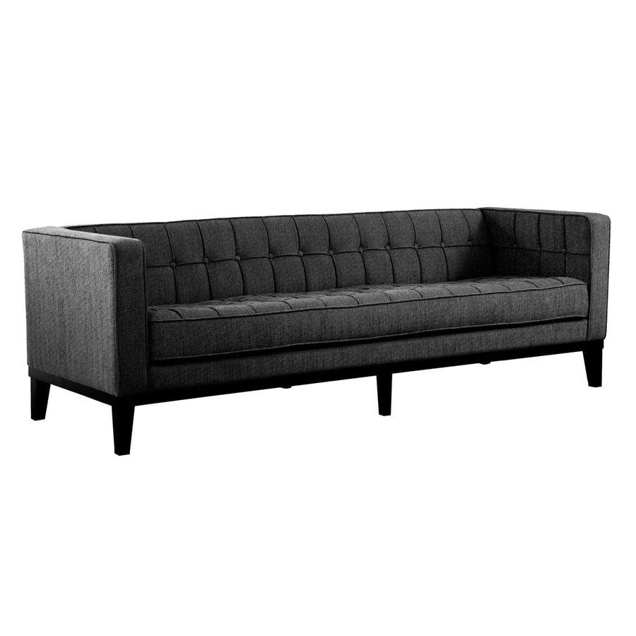 Armen Living Roxbury Midcentury Charcoal Sofa