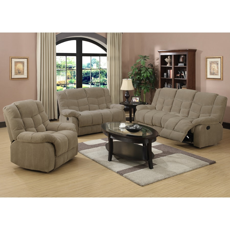 Sunset Trading 3-Piece Heaven on Earth Tan Corduroy Living Room Set