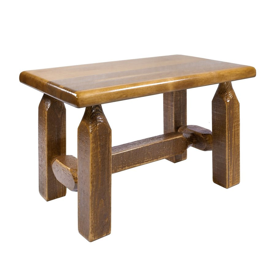 Montana Woodworks Homestead Rustic Stained Ottoman