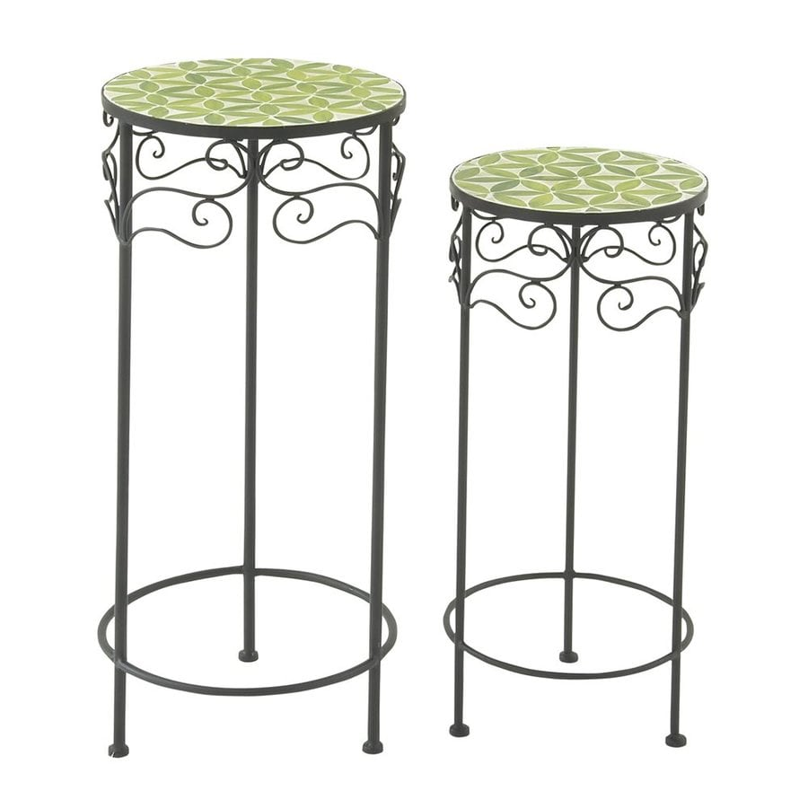 Woodland Imports 28-in Indoor/Outdoor Round Ceramic Plant Stand