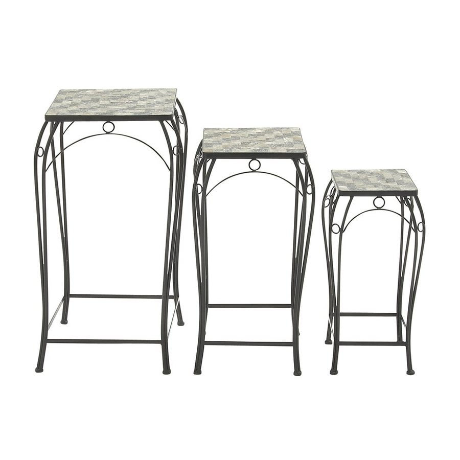 Woodland Imports 28-in Indoor/Outdoor Square Plant Stand