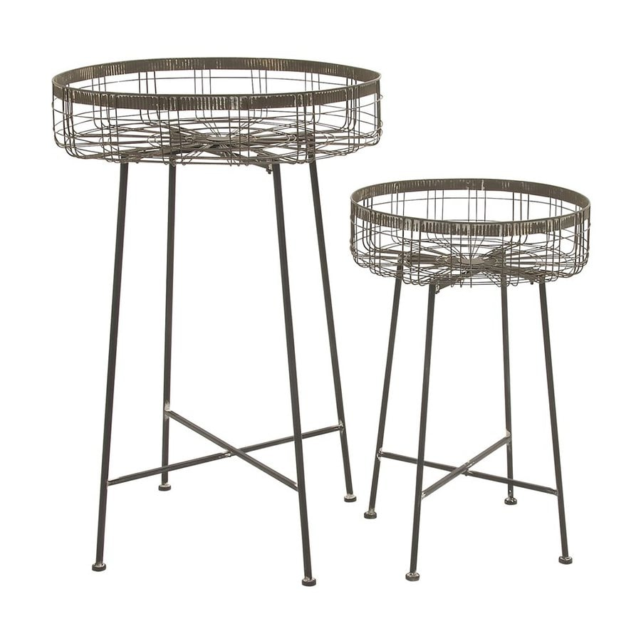 Woodland Imports 43-in Indoor/Outdoor Round Plant Stand