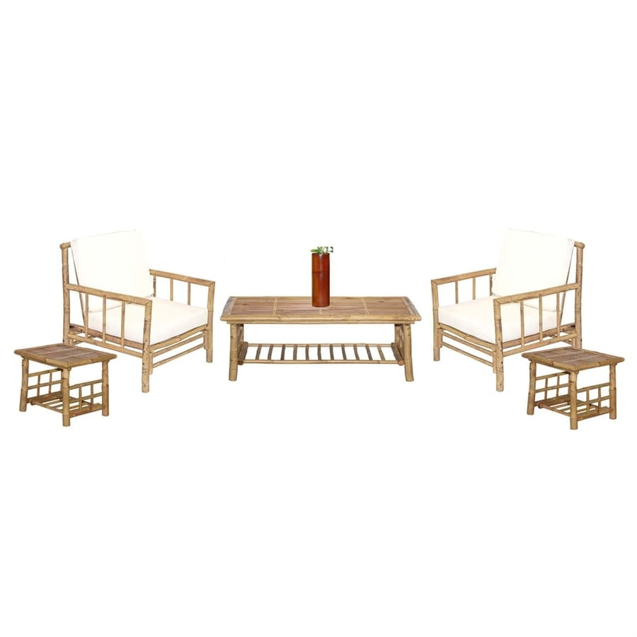Shop Bamboo 54 6-Piece Chai Natural Living Room Set at Lowes.com