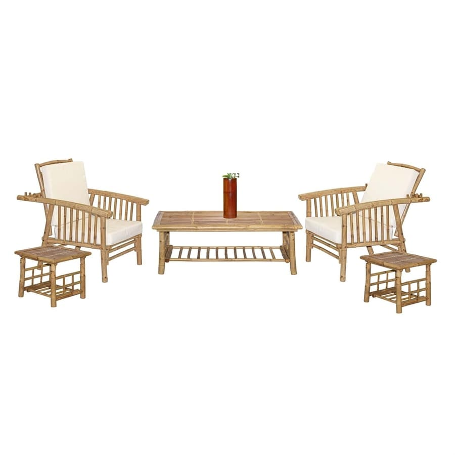 Shop Bamboo 54 6-Piece Mikong Natural Living Room Set at Lowes.com