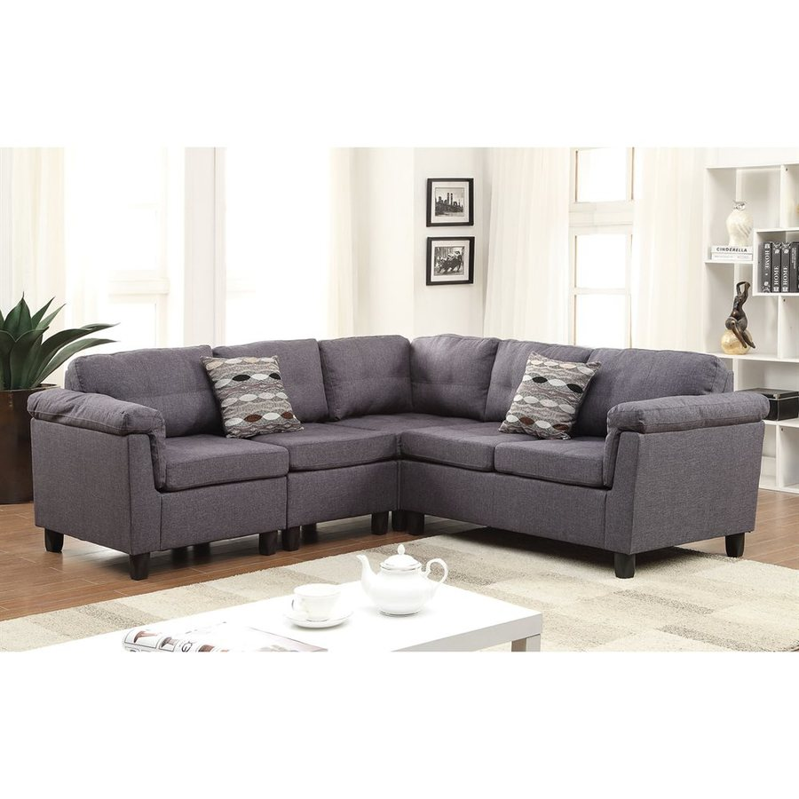 ACME Furniture Cleavon Casual Gray Linen Sectional
