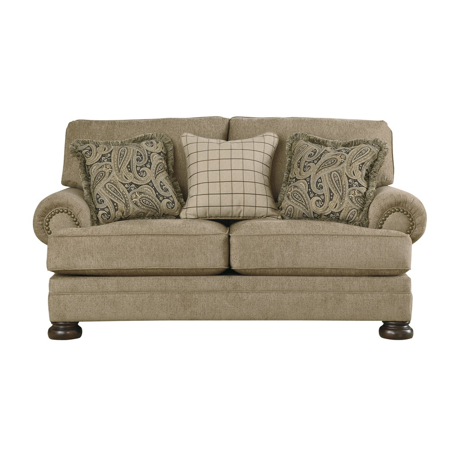 Signature Design by Ashley Keereel Sand Polyester/Polyester Blend Loveseat