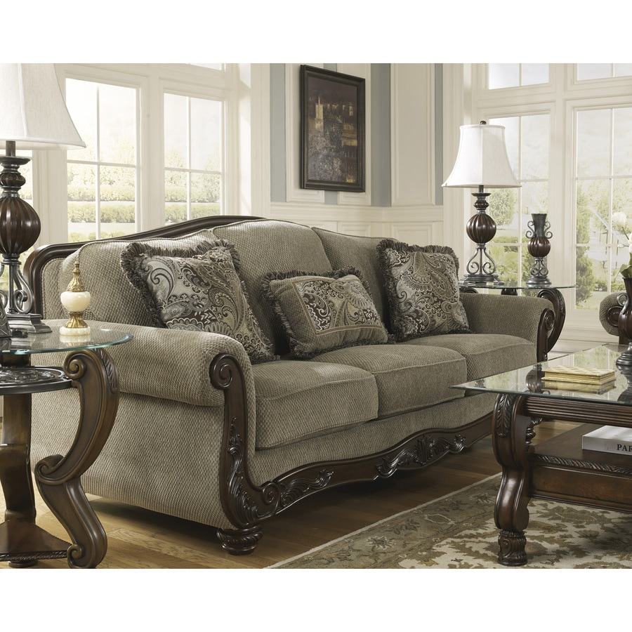 Living Room Furniture Sales: Signature Design By Ashley Martinsburg Meadow Polyester