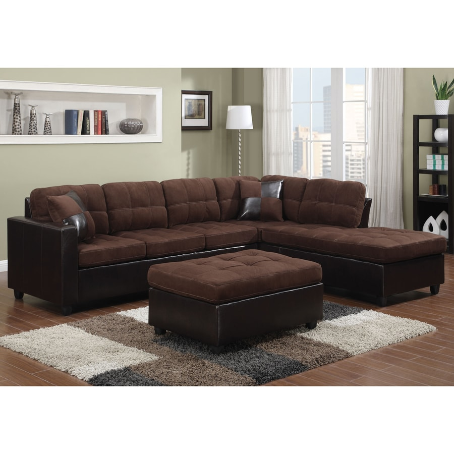 Coaster Fine Furniture Mallory Casual Chocolate/Dark Brown Sectional