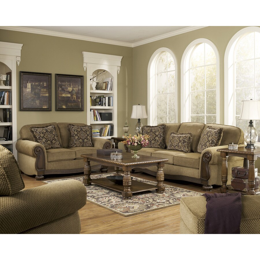 Signature Design by Ashley Lynnwood Amber Polyester/Polyester Blend Loveseat