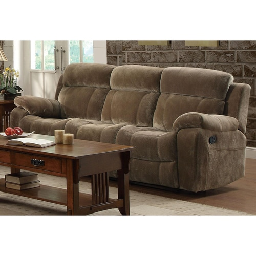 Coaster Fine Furniture Myleene Casual Brown Velvet Reclining Sofa At Lowes