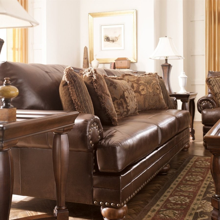 signature design by ashley durablend casual 99200 antique sofa at rh lowes com