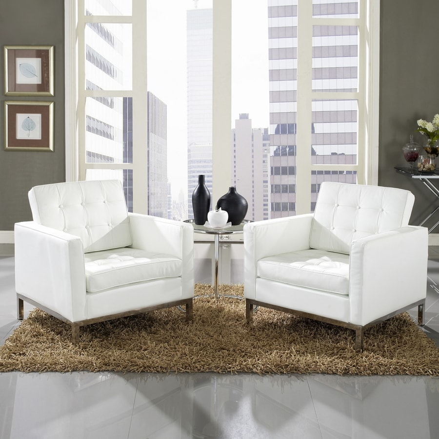 Modway 3-Piece Loft White Living Room Set