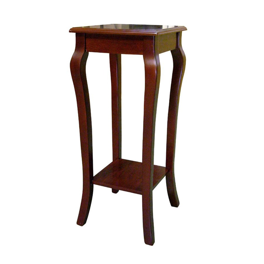 ORE International 28 In Cherry Indoor Square Wood Plant Stand