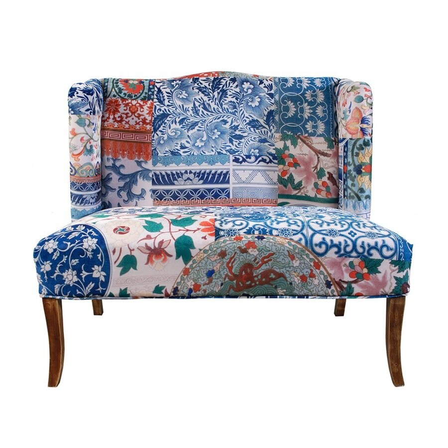 A&B Home Country Paisley Floral Settee