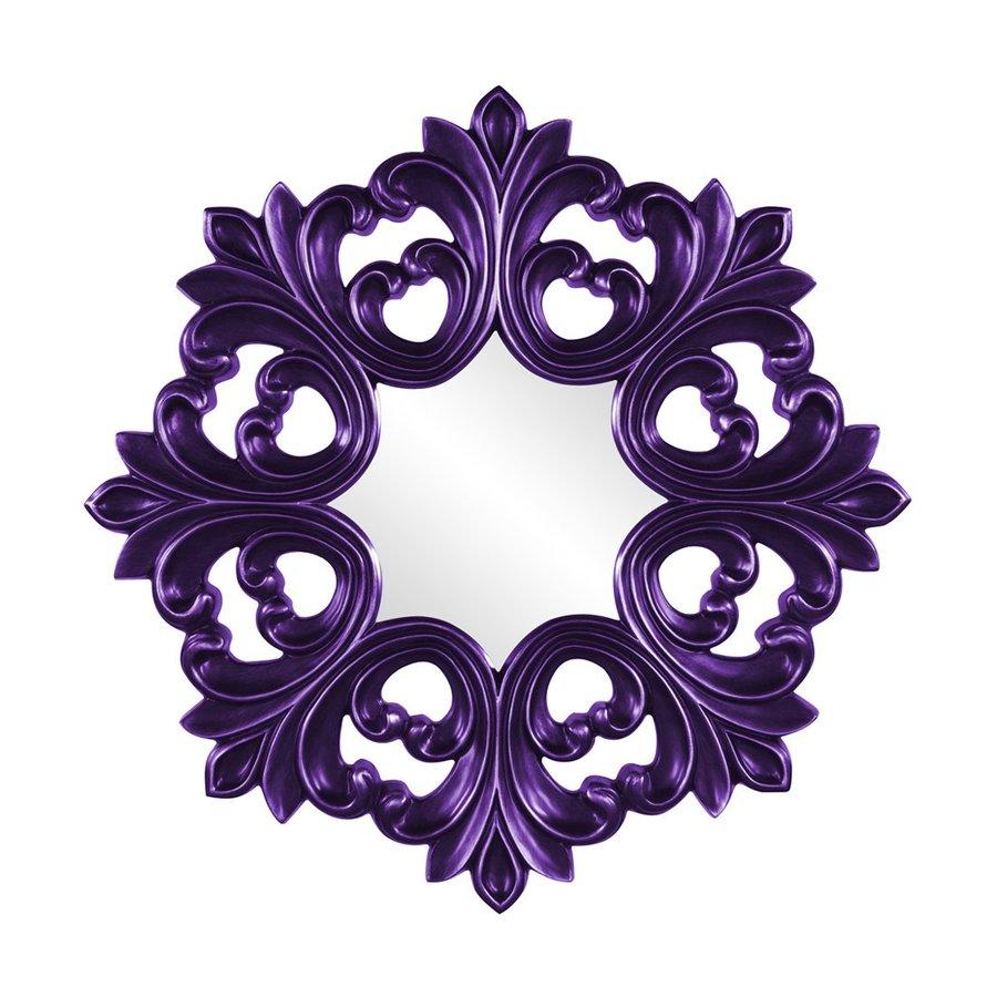Tyler Dillon Annabelle Royal Purple Framed Round Wall Mirror