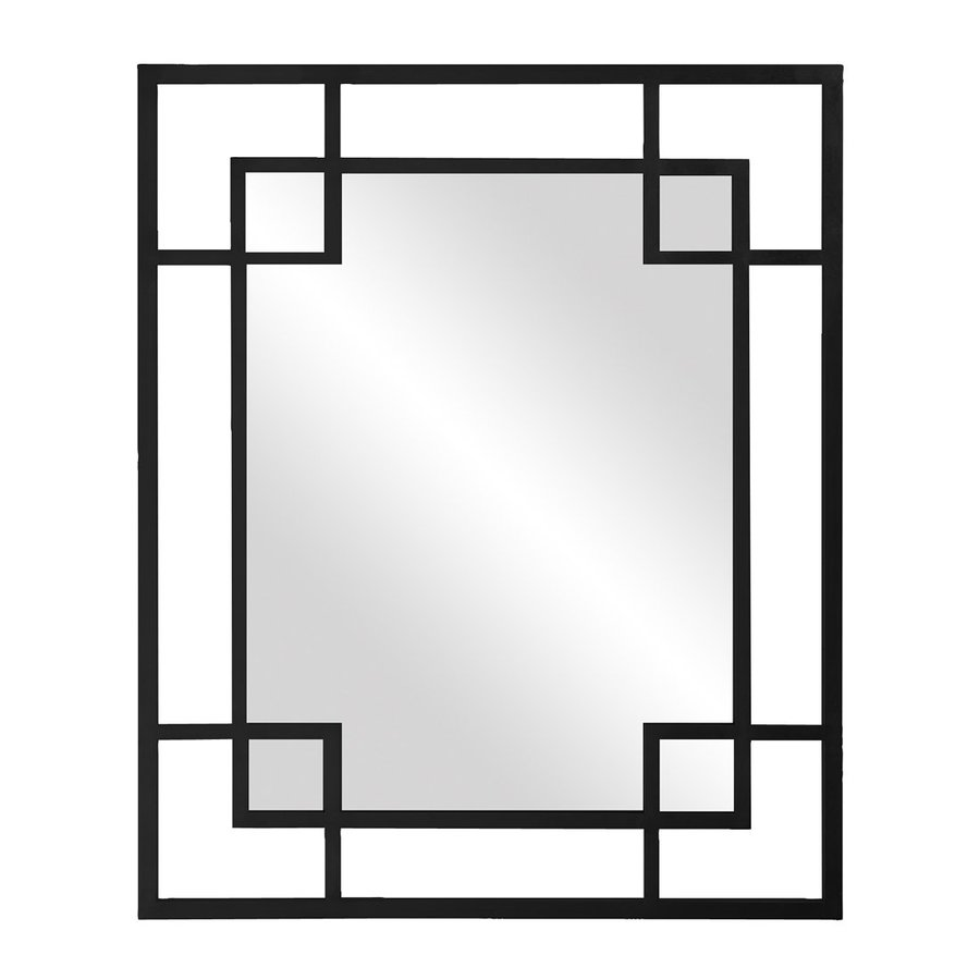Tyler Dillon Lois Black Polished Rectangle Wall Mirror